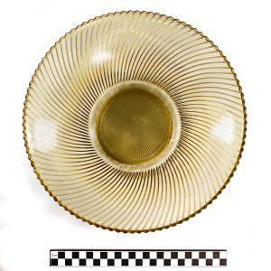 Depression Era Bowl; Glass; Unknown location; 1930s. University of Missouri MAC1997-0066.