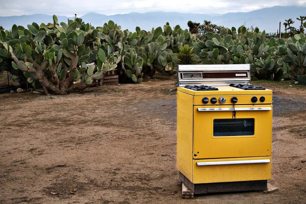 A spare stove sits in a backyard on Sept. 20th in the ranching community of Miracle, Mexico. Locals raise mostly sheep, goats and chicken with most families having lived in the area since the Mexican Revolution of the early 1900s.